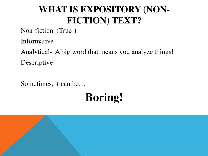 What is Expository