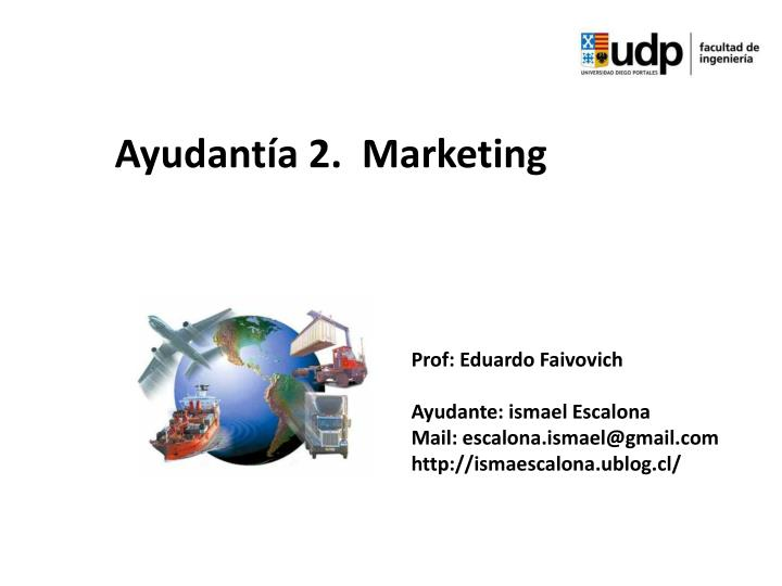 ayudant a 2 marketing
