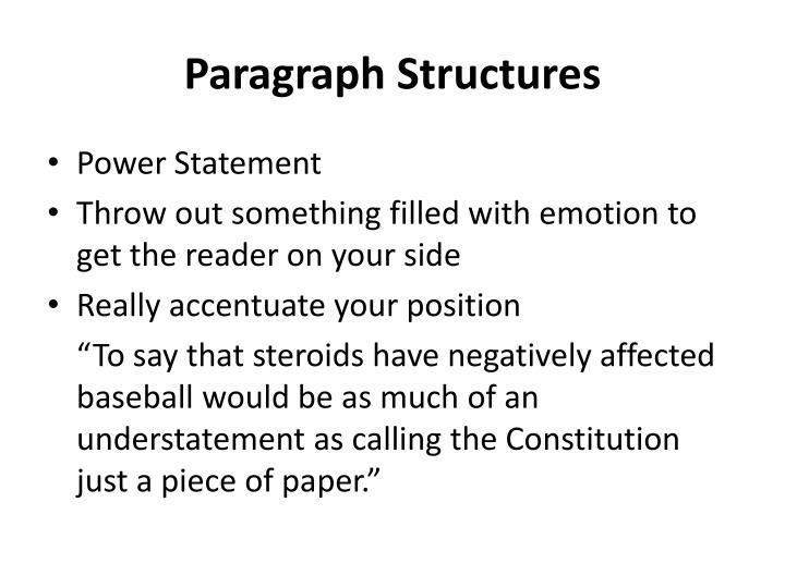 Paragraph Structures
