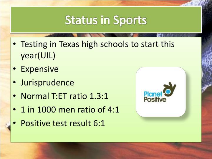 Status in Sports