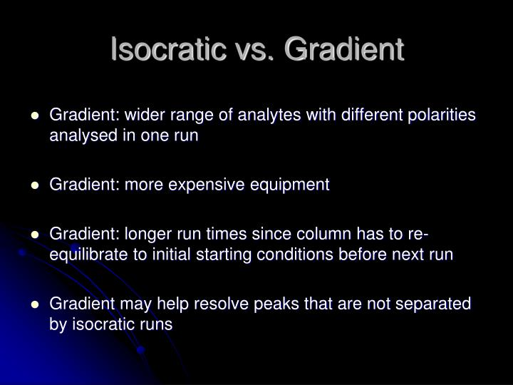 Isocratic vs. Gradient