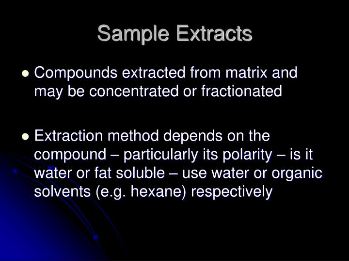 Sample Extracts