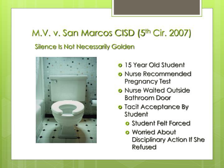M.V. v. San Marcos CISD (5