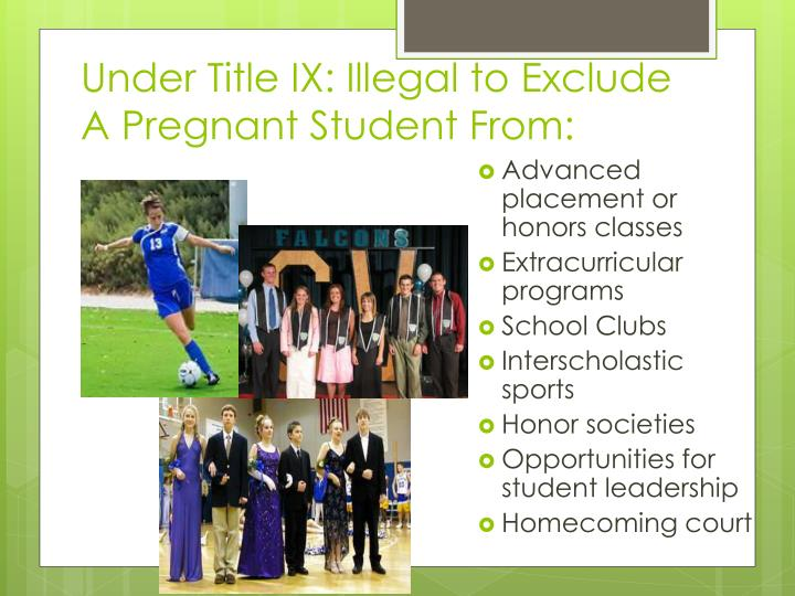 Under Title IX: Illegal to Exclude