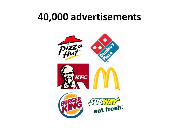 40,000 advertisements