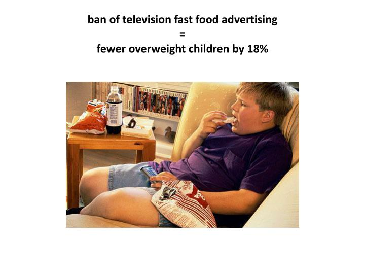 ban of television fast food