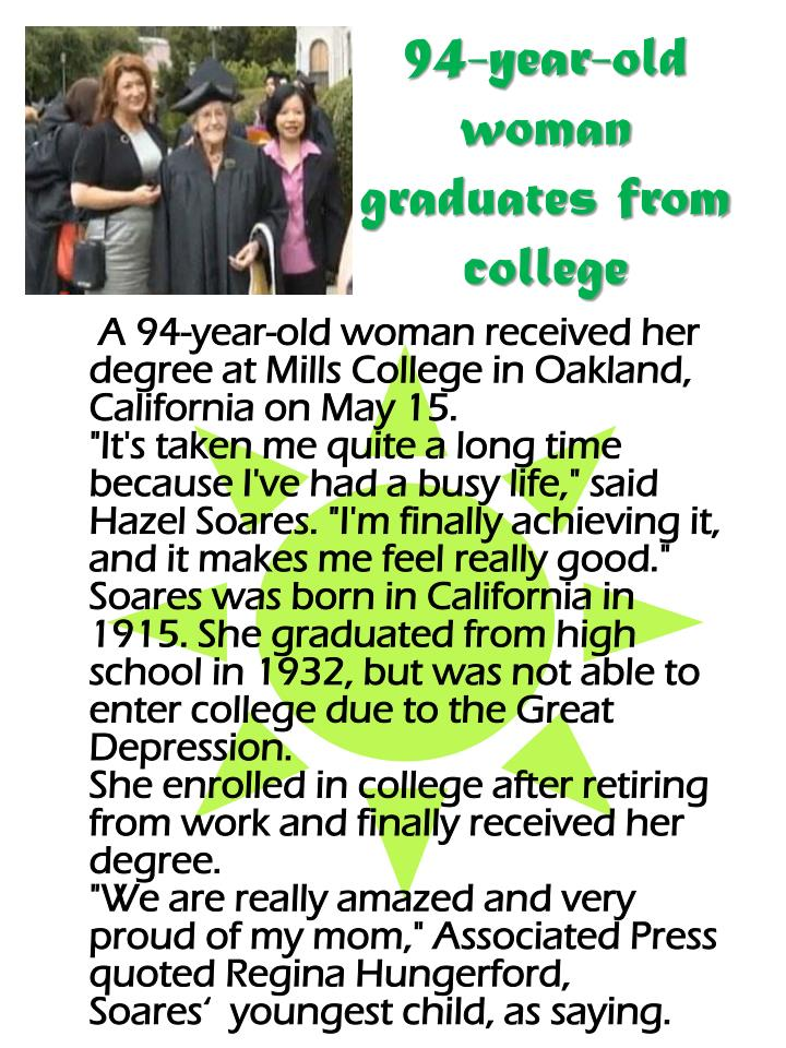 94-year-old woman graduates from college