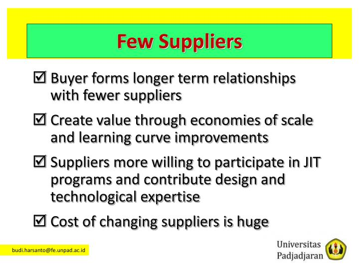 Few Suppliers