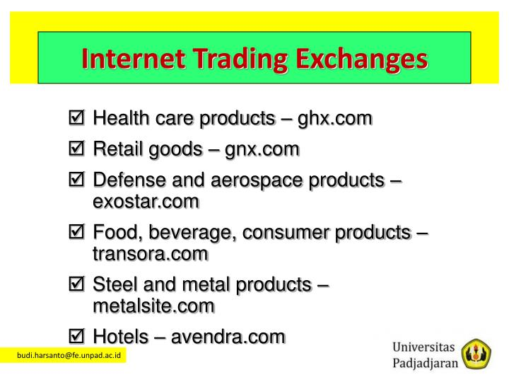Internet Trading Exchanges