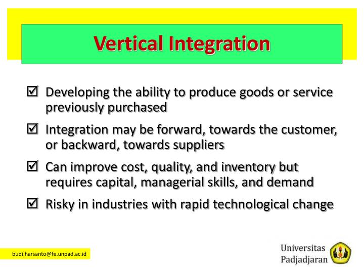 Vertical Integration