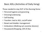 basic adls activities of daily living