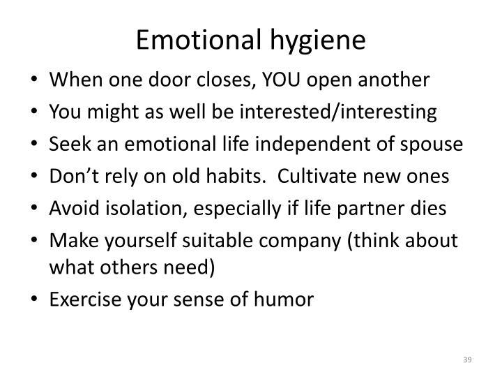 Emotional hygiene