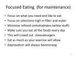 focused eating for maintenance
