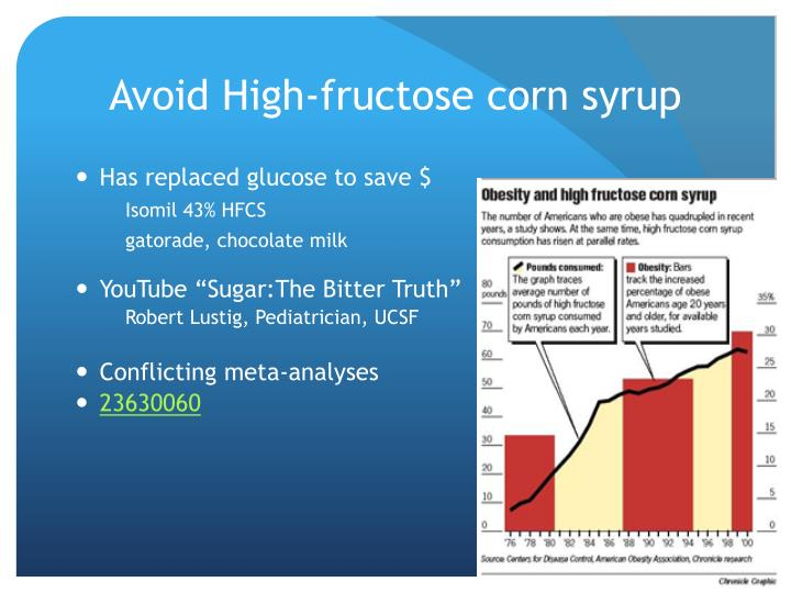 Avoid High-fructose corn syrup