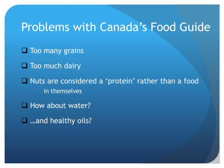Problems with Canada's Food Guide