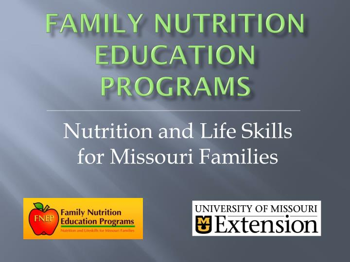 Family Nutrition Education Programs