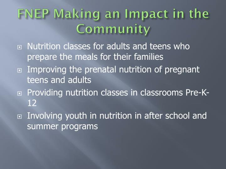 FNEP Making an Impact in the Community