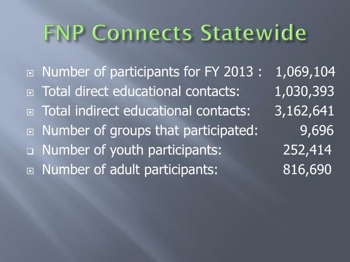 FNP Connects Statewide