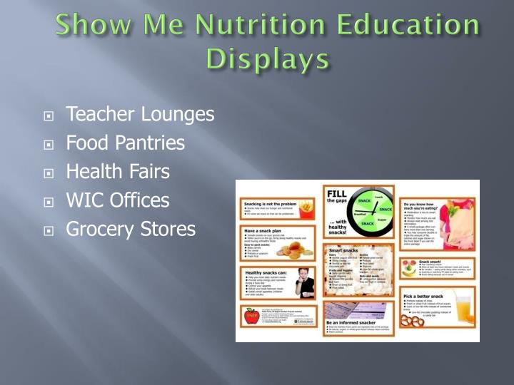 Show Me Nutrition Education Displays