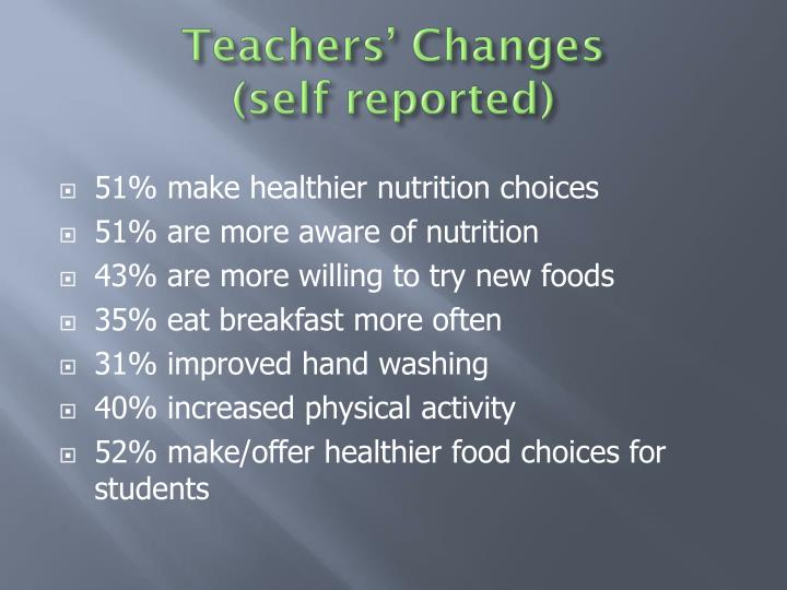 Teachers' Changes