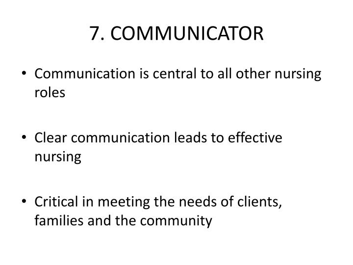 7. COMMUNICATOR