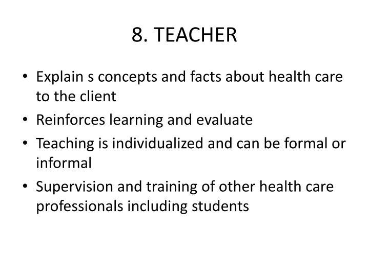 8. TEACHER