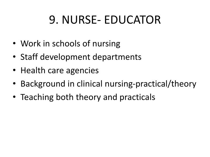 9. NURSE- EDUCATOR