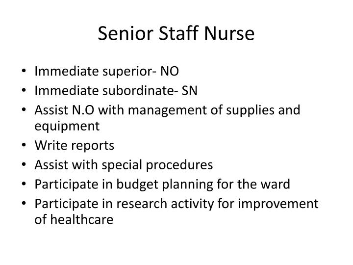 Senior Staff Nurse