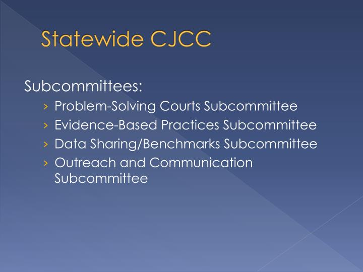 Statewide CJCC
