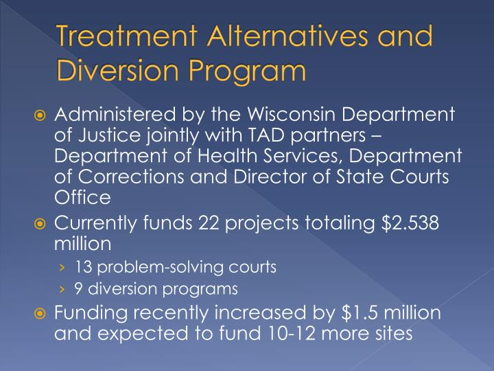 Treatment Alternatives and Diversion Program