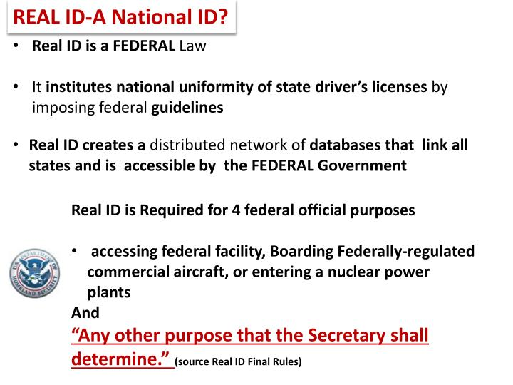 REAL ID-A National ID?