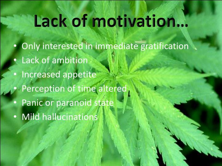 Lack of motivation…