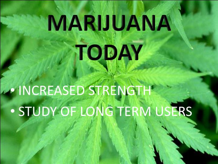 MARIJUANA TODAY
