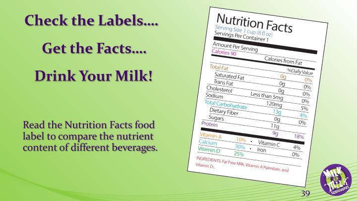 Check the Labels….