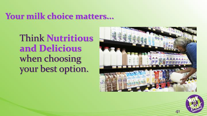 Your milk choice matters...