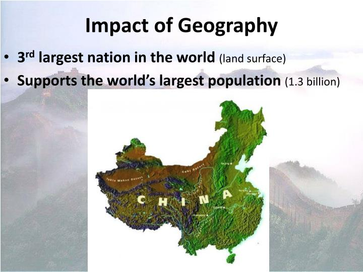 Impact of geography