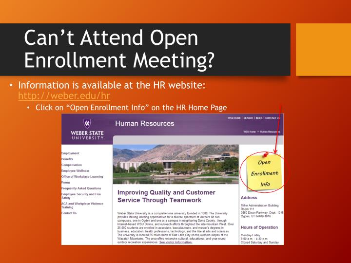 Can't Attend Open Enrollment Meeting?
