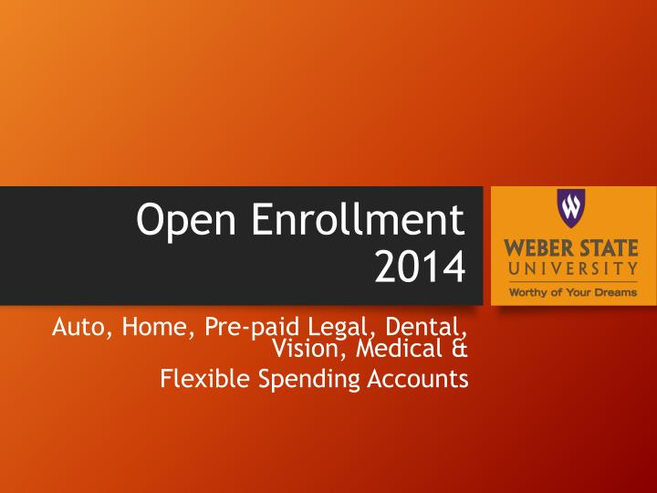 Open enrollment 2014