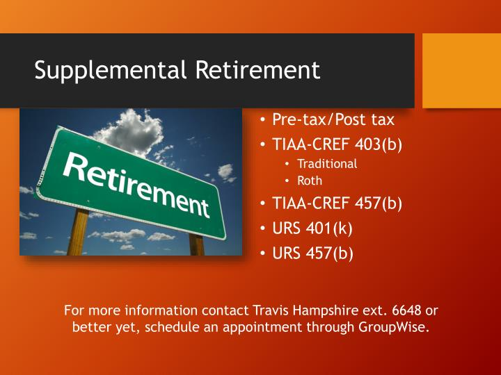 Supplemental retirement