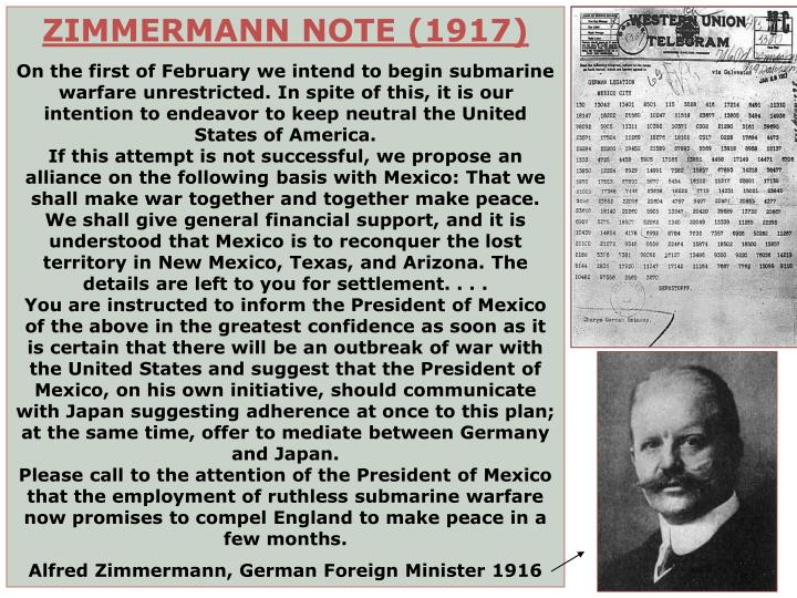 ZIMMERMANN NOTE (1917)
