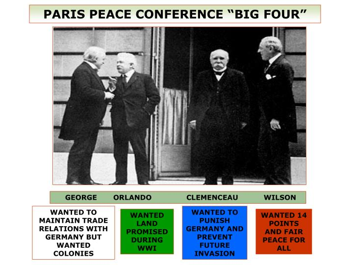"PARIS PEACE CONFERENCE ""BIG FOUR"""