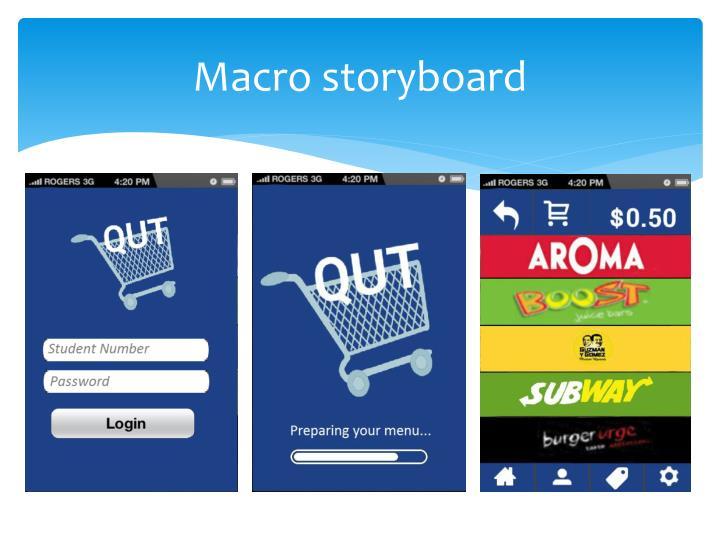 Macro storyboard