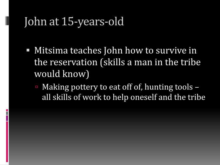 John at 15-years-old