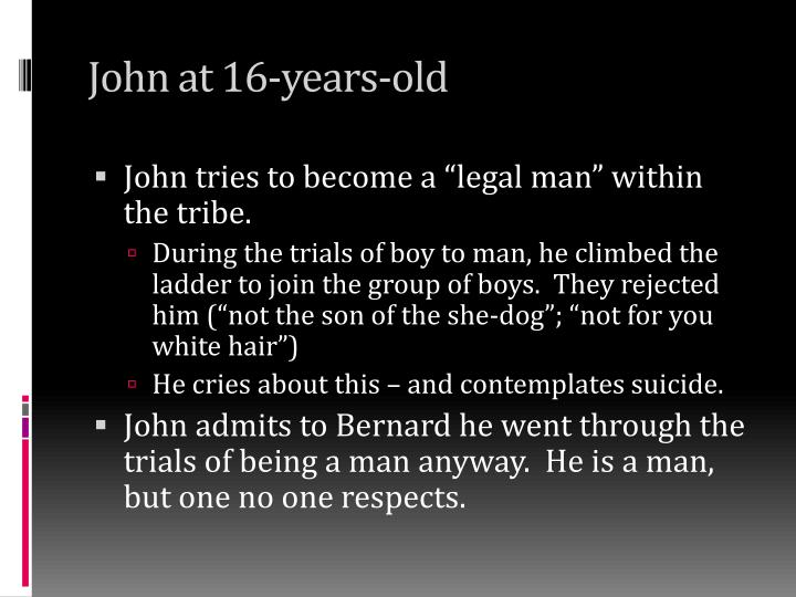 John at 16-years-old