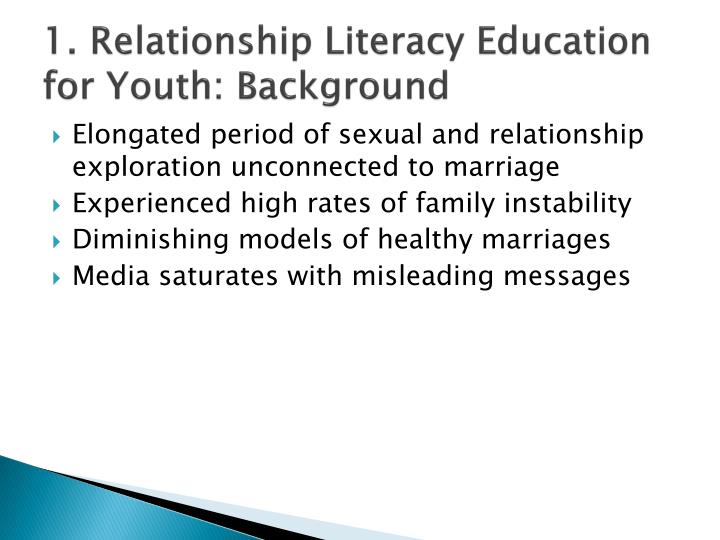 1. Relationship Literacy Education for Youth: Background