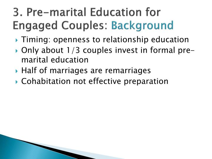 3. Pre-marital Education for Engaged Couples: