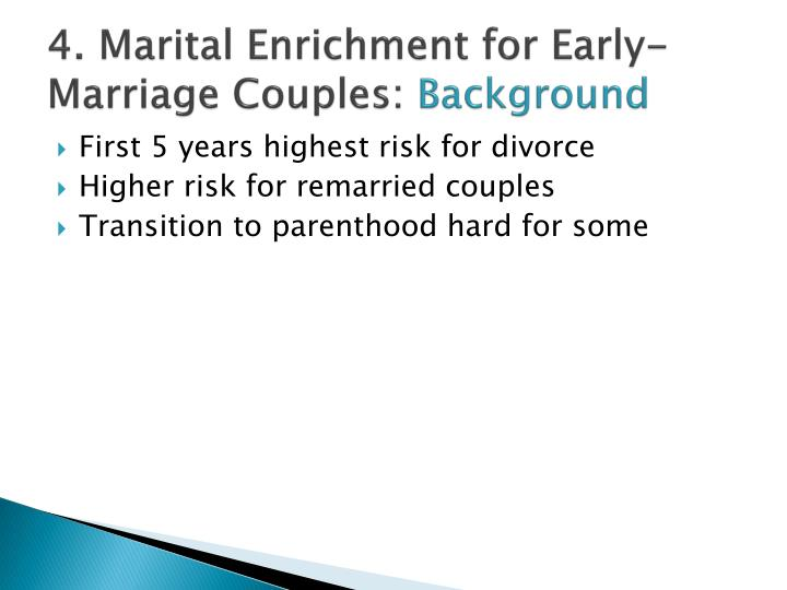 4. Marital Enrichment for Early-Marriage Couples: