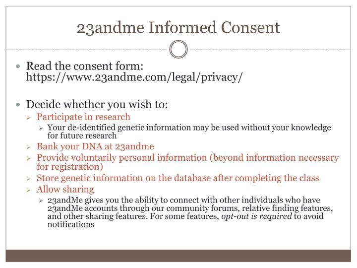 23andme Informed