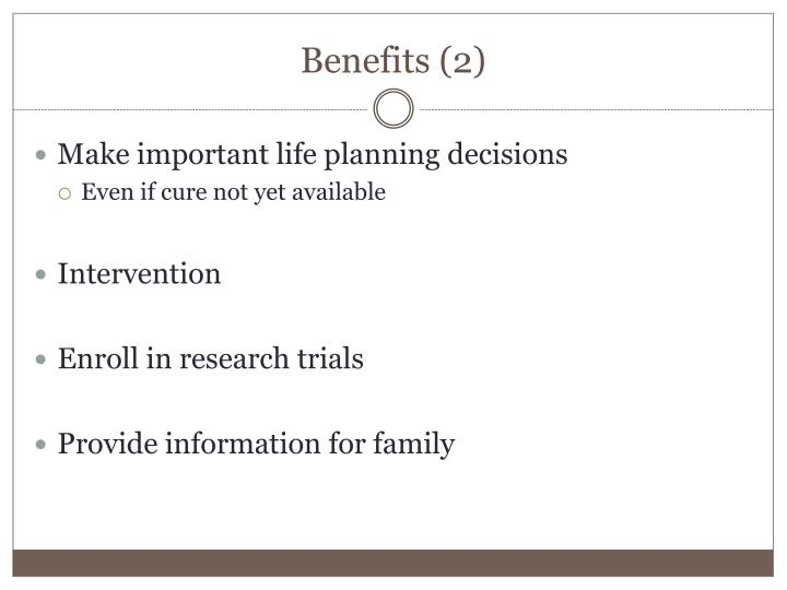 Benefits (2)