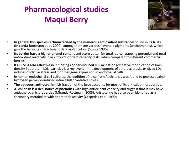 Pharmacological studies